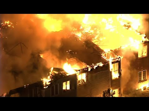 Raw: Huge Fire At Pennsylvania Senior Home