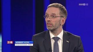 Herbert Kickl - Sicherheitspaket - ZIB 2 - 22.2.2018