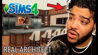 A Real Architect Builds A VAULT In The Sims 4 • Professionals Play