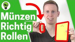 Münzen rollen mit Papier ✅ ULTIMATIVE ANLEITUNG: Geldrollen, Kleingeld & Münzrollen selber machen!!!