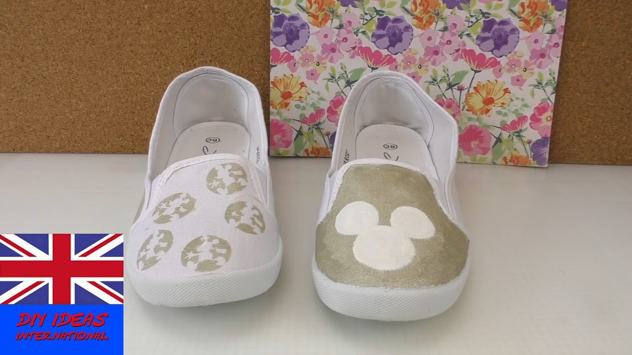 diy shoes makeover - decorate your