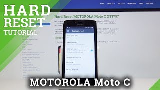 Factory Reset MOTOROLA Moto C - Delete All Content & Settings