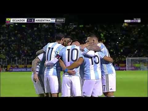 Messi 3 (ARGENTINA) vs. Ecuador 1 BERICHT  NARRIERUNG English, Spanish, Portuguese, etc. 10/10/2017