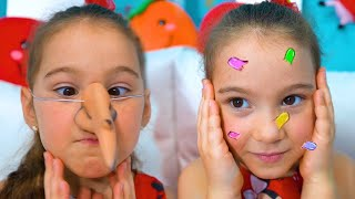 Anna and Papa and funny kids story about big pimple