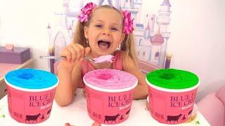 Diana tastes different Ice Cream