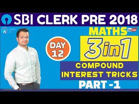 SBI CLERK PRE 2018   Compound Interest Tricks (Part-1)  Maths   Day - 12   Online Coaching For SBI thumbnail