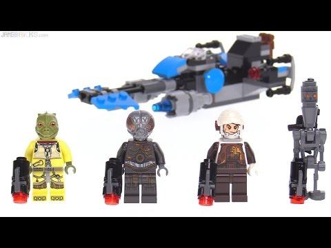 LEGO Star Wars Bounty Hunter Battle Pack Review! Bossk, IG-88, 4-LOM, Dengar 75167
