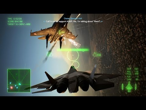 Ace Combat 7: Skies Unknown (Su-57 + Pulse Laser) Mission 15 l Battle for Farbanti |_・) ┛