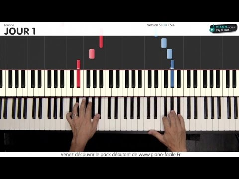 Jour 1 - Louane -  [Tutorial Piano] (synthesia) - S