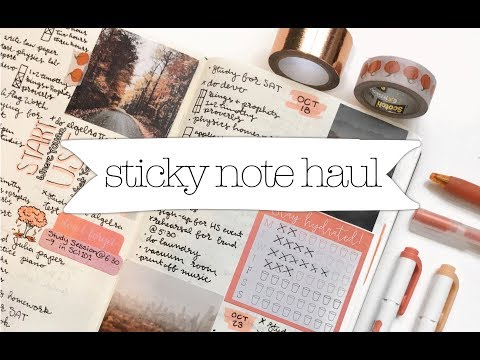 sticky note haul || cheap stationery from target!