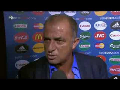 EM 2008 Turkey vs. Czech - Interview Fatih Terim