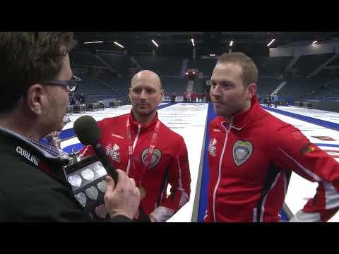 2018 Tim Hortons Brier - Media Scrum - Final