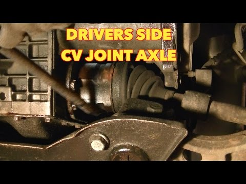 3.0 Dodge Caravan Drivers CV Joint Removal.