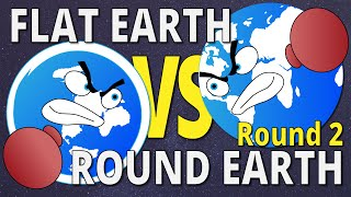 SPHERE EARTH CURVATURE | Flat Earth vs Round Earth - Round 2
