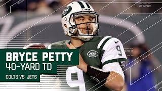Bryce Petty Tosses a 40-Yard Bomb to Robby Anderson for the TD!   Colts vs. Jets   NFL