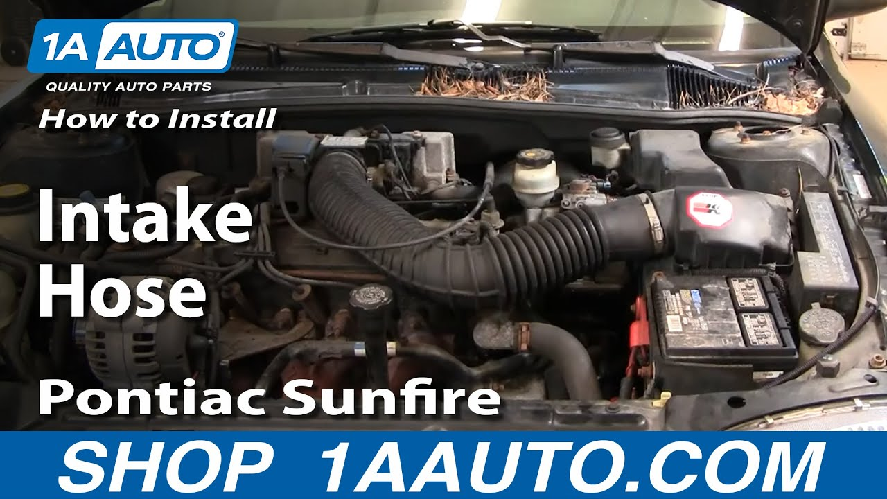 how to install replace intake hose chevy cavalier pontiac sunfire 95 rh youtube com 2006 chevy cobalt ss engine diagram 2.2 Ecotec Engine Diagram