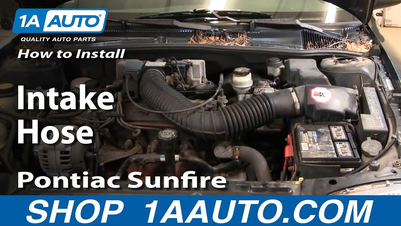 how to install replace intake hose chevy cavalier pontiac sunfire 95 97 1aauto com [ 1280 x 720 Pixel ]