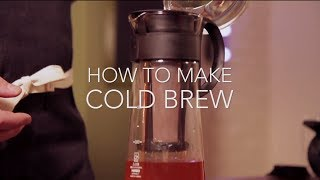 Coffee: How to make 'Cold Brew' coffee