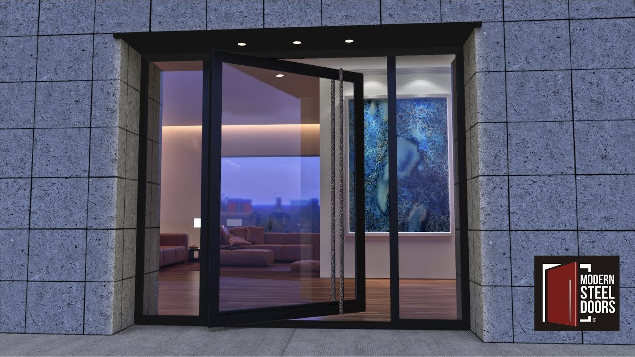 Modern Front Doors That Pivot By Steel
