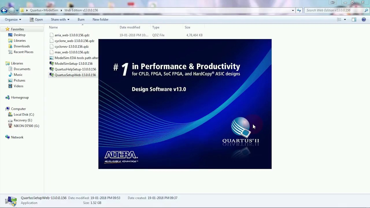 How to install Quartus II 13 0 with ModelSim Starter Edition