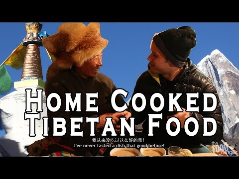 Amazing Tibetan Food Feast - Eating In A Tibetan Home!