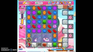 Candy Crush Level 1613 w/no boosters (no audio) as a dare.