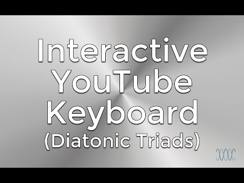 Interactive C Major Scale (YouTube Piano) - Diatonic Triads - WARRENMUSIC Series - Harmony Module