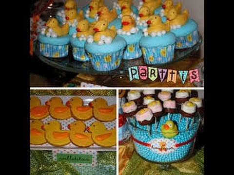 Bocaditos Para Baby Shower Originales.Baby Shower De Patitos Mas De 20 Ideas Bocadillos Snacks Y Cupcakes