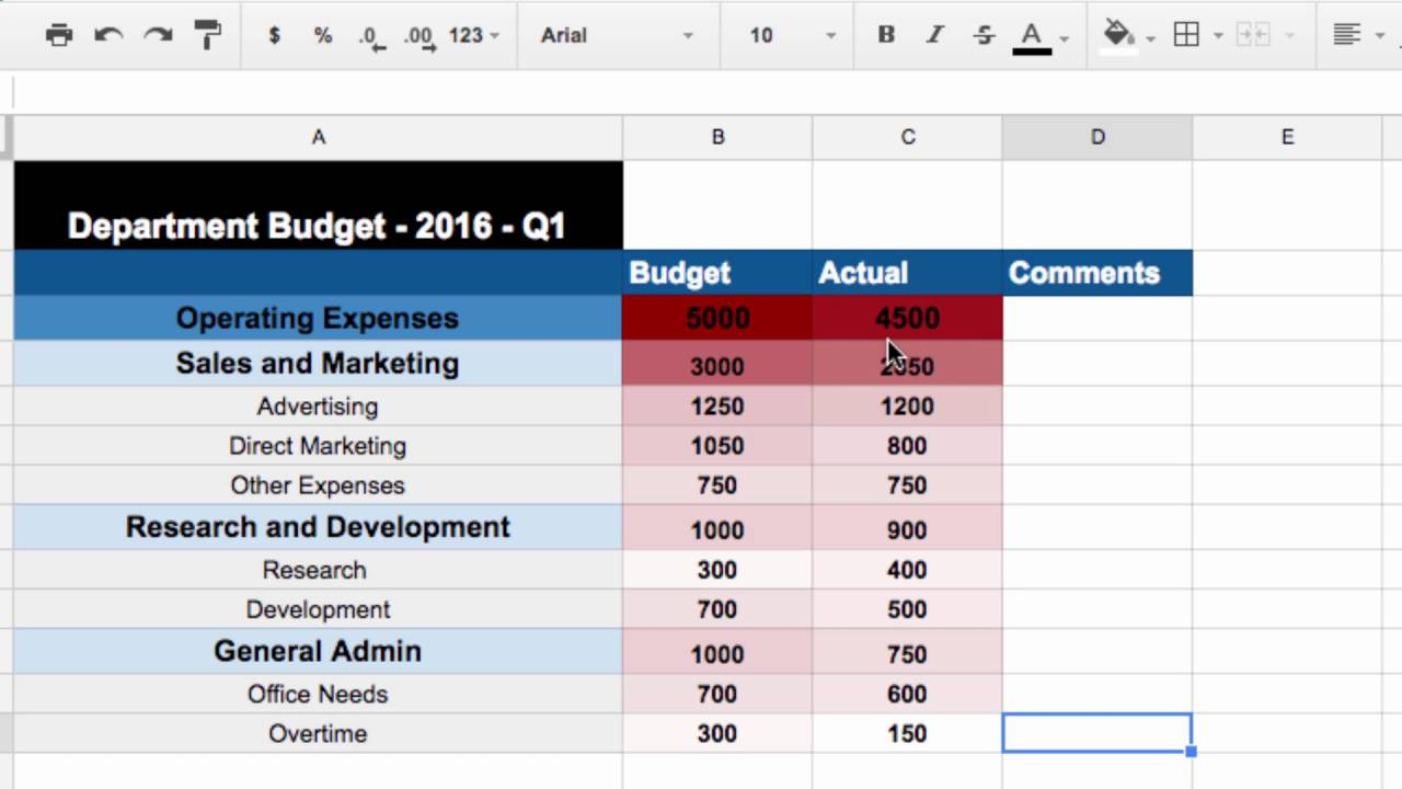 How to Make the Perfect Budget in Google Sheets