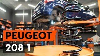 Cómo cambiar los muelles de suspensión traseros en PEUGEOT 208 1 (CA_,CC_) [AUTODOC]