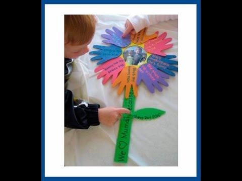 Manualidades para el dia de las madres 50 ideas para - Trabajos manuales de navidad para ninos de primaria ...