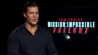 "Henry Cavill is still getting used to calling Tom Cruise ""Tom""…"