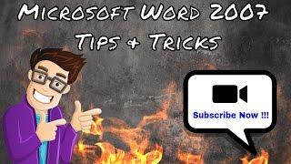 Microsoft Word 2007 Tips & Tricks