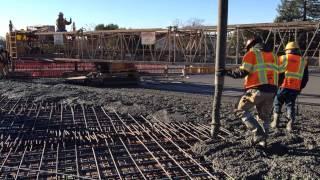 Concrete Pour Over Bridge
