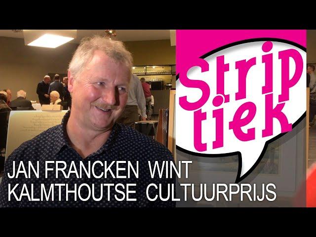 Stripcoördinator Jan Francken wint Kalmthoutse cultuurprijs