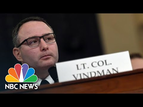 Vindman Receives Applause After Explaining Why He Spoke Out: 'This Is America' | NBC News