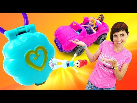 Распаковка Polly Pocket / Полли Покет. Куклы, Маша Капуки и волшебный медальон. Игрушки для девочек