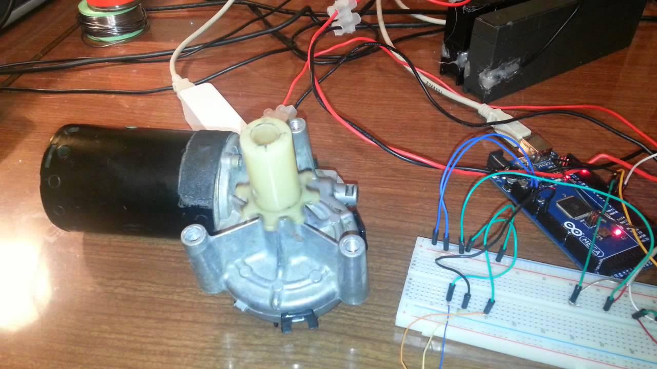 Arduino ibt2 h bridge and 12V wiper motor  YouTube