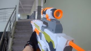 Nerf War: First Person Shooter 12 (Secret mission from Donald Trump) Action movies 2017