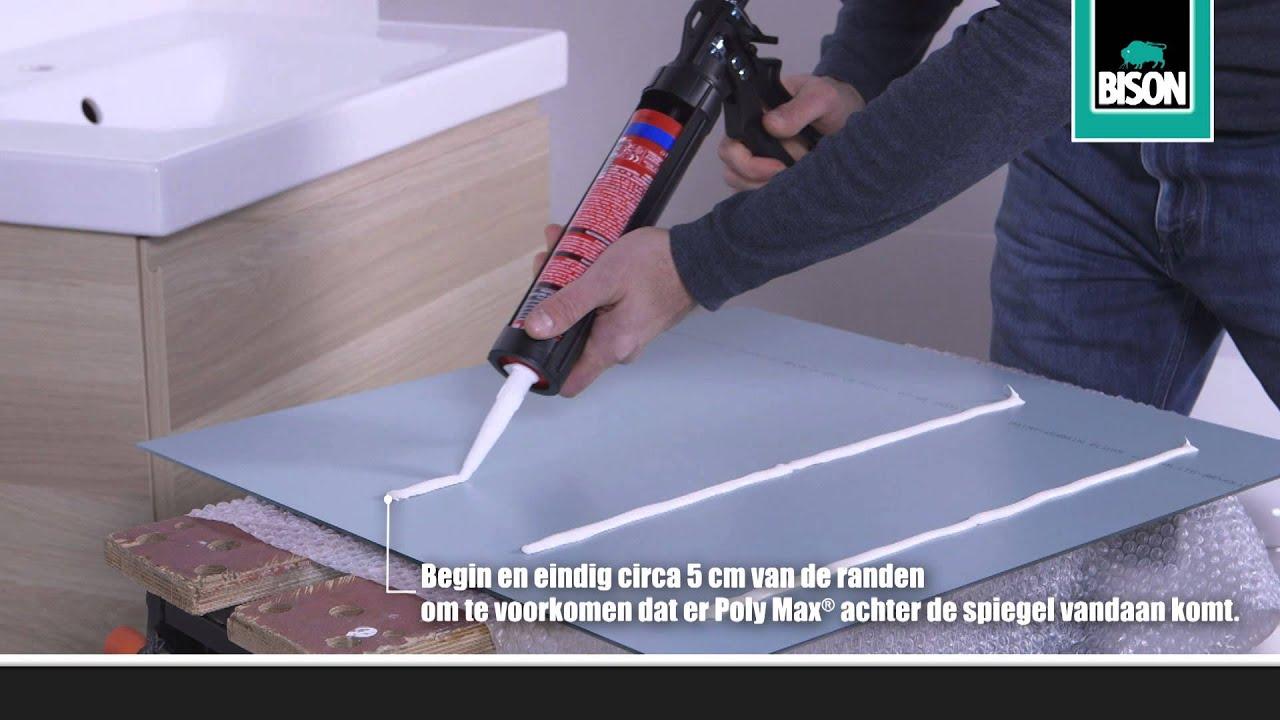 Hoe monteer ik een spiegel? klusadvies door bison youtube