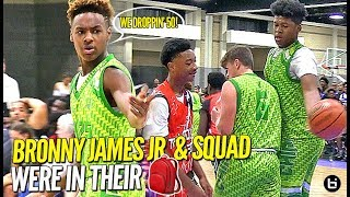 Bronny James Jr. & Bluechips ALL THE WAY In Their Bag! 👀 GAVE THEM NO MERCY!!