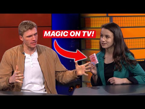 Performing my FAVORITE Card-Trick on LIVE TV!!