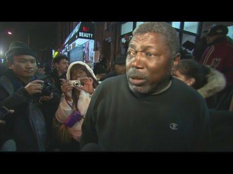 Eric Garner's dad to crowd: No violence please
