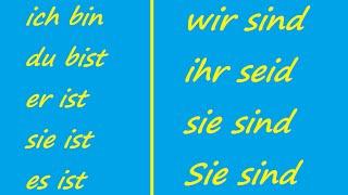 ♫ Sein Conjugation Song ♫ German Conjugation ♫ Das Lied der Konjugation von Sein ♫