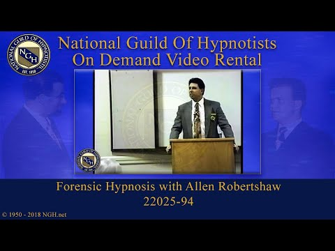 Forensic Hypnosis With Allen Robertshaw 22025 94 Youtube