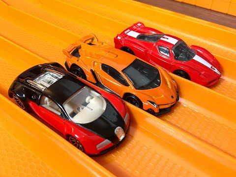 Bugatti Veyron vs Ferrari FXX vs Lamborghini Veneno - RACE/TOP SPEED TEST