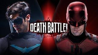 Nightwing Vs Daredevil  Dc Vs Marvel    Death Battle!