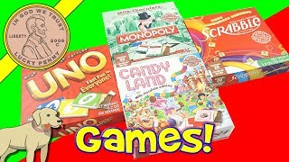 Chocolate Board Games - UNO - Scrabble - Candy Land & Monopoly