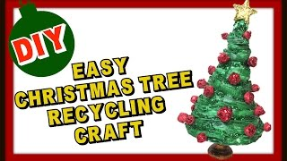 Easy Newspaper Christmas Tree Recycling Craft Diy  Craft Klatch Christmas Series