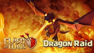 CLASH OF CLANS - RUSH TH9 HIT TH10 IN CLAN WAR (drg lvl4 attack strategy)